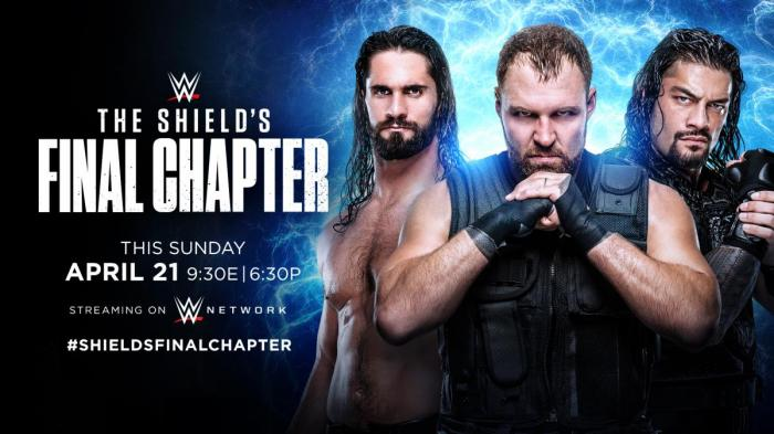 Shield: per l'ultimissimo match la WWE lancia una t-shirt commemorativa