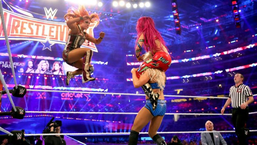 WWE Uncut Gems #7 - Charlotte vs Becky Lynch vs Sasha Banks - WrestleMania 32
